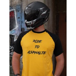 T-shirt Noir/Jaune  Logo Ride To Asphalte